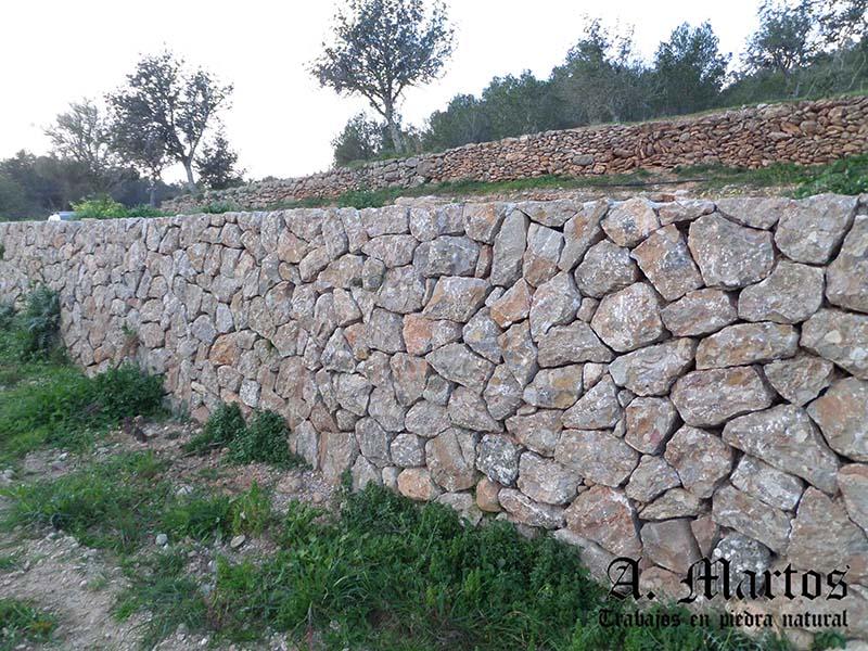 Trabajos con piedra natural en ibiza piedra seca muro - Muro de piedra natural ...